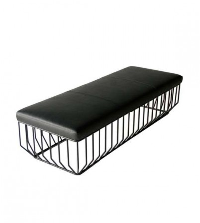 Reza Feiz Style Leather Bench