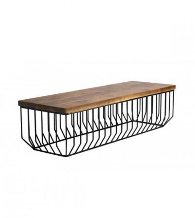Reza Feiz Style Wooden Bench