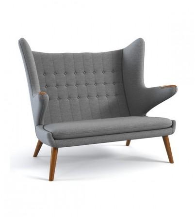 Hans J Wegner Style Teddy Bear Sofa 2 Seater