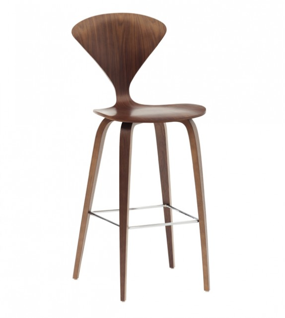 Cherner Style Bar Stool with Wooden Base
