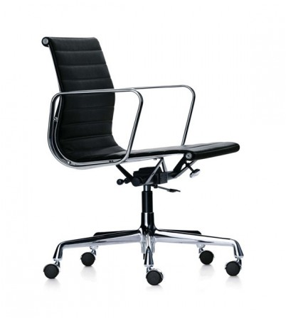 Eames Style Low Back Aluminium Chair