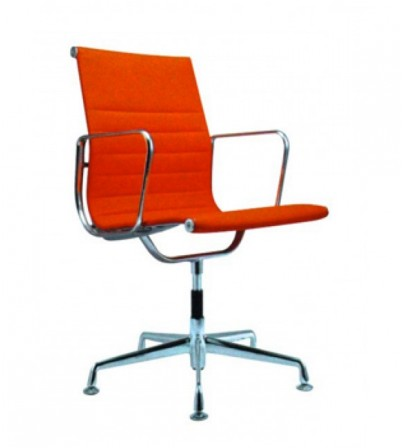 Eames Style Low Back Aluminium Chair (No Wheels)