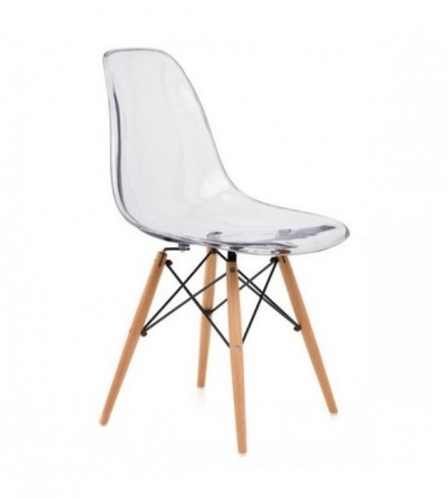 Eames Style Transparent DSW Chair