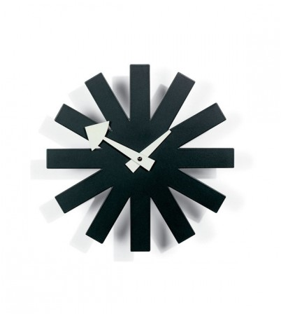 George Nelson Style Black Asterisk Clock