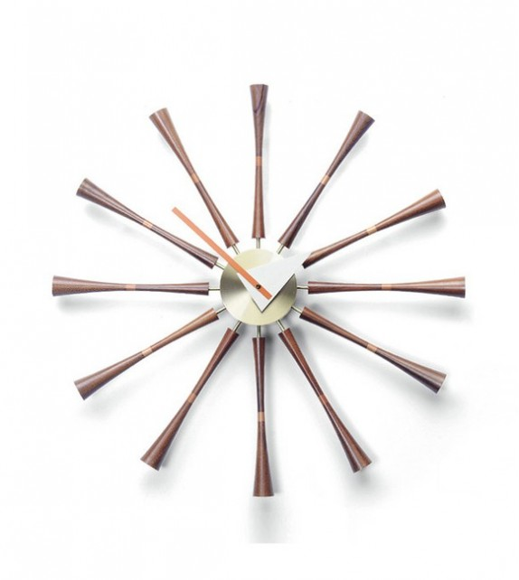 George Nelson Style Spindle Clock