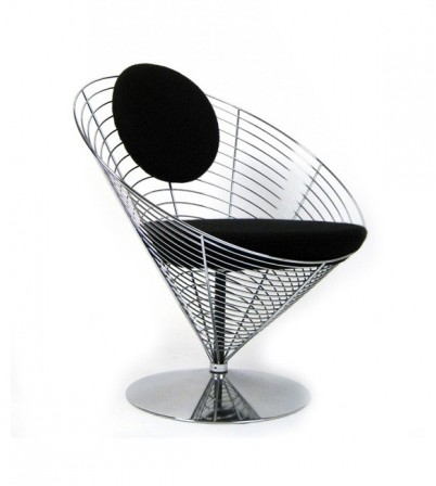Verner Panton Style Wire Cone Chair