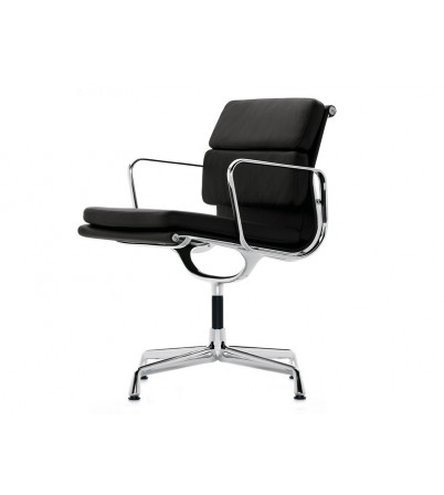 Eames Style Low Back Soft Pad Office Chair (Flat Base)