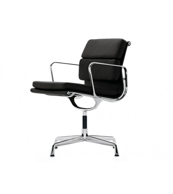 low back soft pad office chair flat base