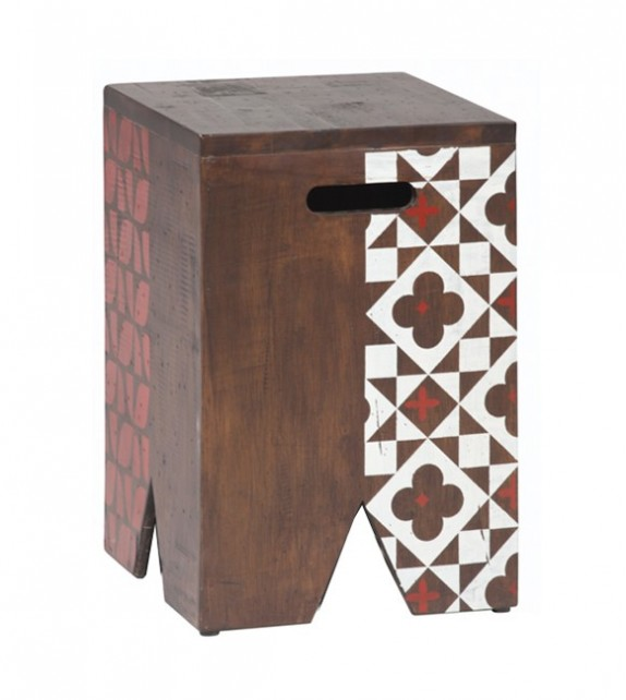 Consett Stool (Geometric Pattern)