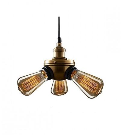R.H Style Bare Bulb Filament Triple Pendant