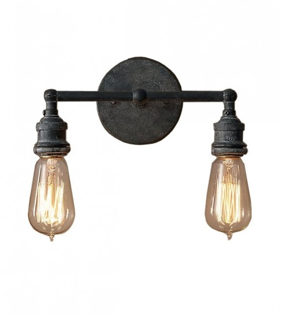 R.H Style Filament Bulb Double Sconce