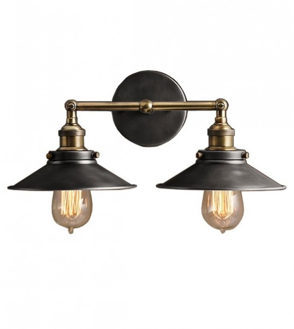 R.H Style Metal Filament Double Sconce