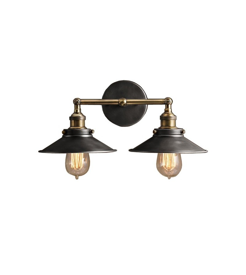 Double Metal Wall Lights : R.H Style Metal Filament Double Sconce