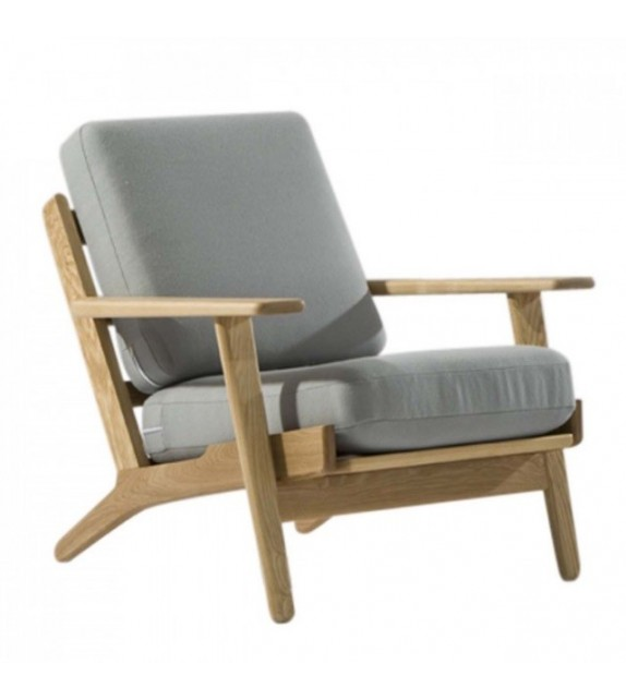 hans j wegner style ge 290 lounge chair. Black Bedroom Furniture Sets. Home Design Ideas