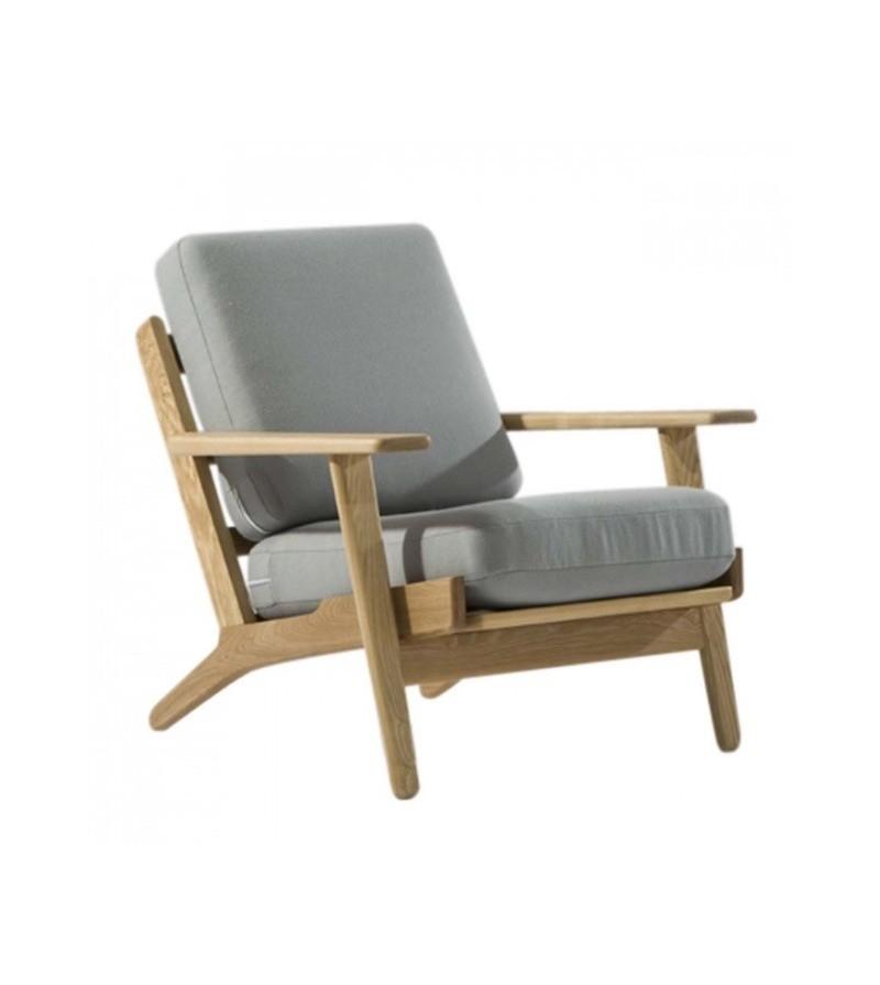 Hans j wegner style ge 290 lounge chair - Hans wegner style chair ...