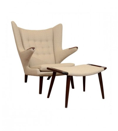 Hans J Wegner Style Teddy Bear Lounge Chair