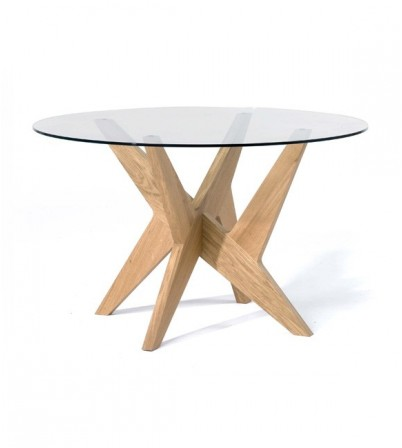 MHS Cross Pedestal Table