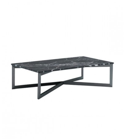 Nobi Rectangular Coffee Table (Black Marble Top)