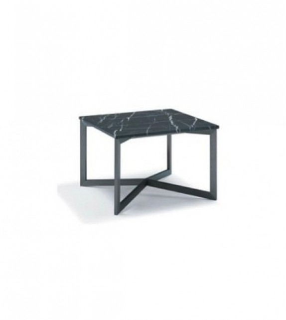 Nobi square coffee table black marble top for Square marble top coffee table